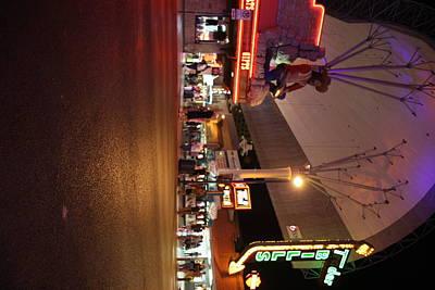 Las Vegas - Fremont Street Experience - 121223 Print by DC Photographer