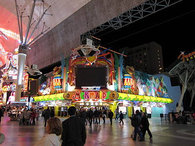 Las Vegas - Fremont Street Experience - 12128 Print by DC Photographer