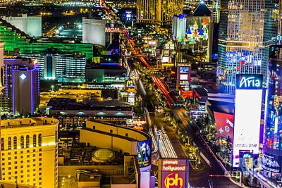 Las Vegas Nightlife Print by Andre Babiak