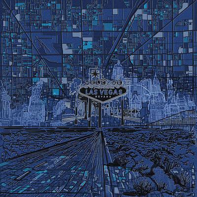 Las Vegas Skyline Original by Bekim Art