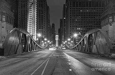 Lasalle St - Chicago Print by Jeff Lewis