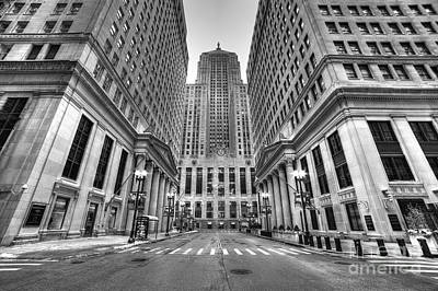 Lasalle Street Print by Twenty Two North Photography