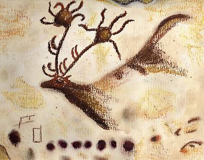 Primitive Drawing - Lascaux by Angie Brown