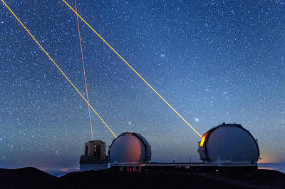 Keck Photograph - Laser Party Over Mauna Kea 4 by Jason Chu