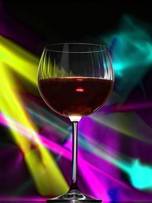 Laser Wine Print by Dennis James