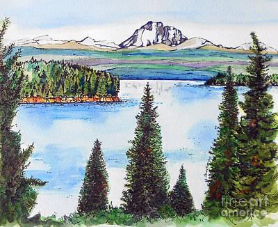 Lassen Painting - Lassen And Almanor by Terry Banderas
