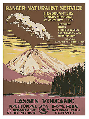 Lassen Painting - Lassen Volcanic National Park California by Elaine Plesser