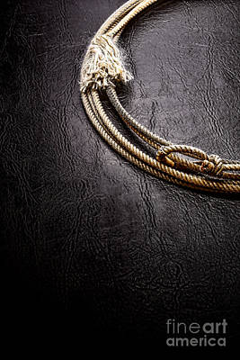 Lasso On Leather Print by Olivier Le Queinec