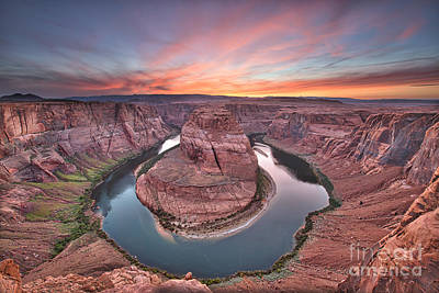 Grand Canyon Photograph - Last Light Horseshoe Bend by Tod and Cynthia Grubbs