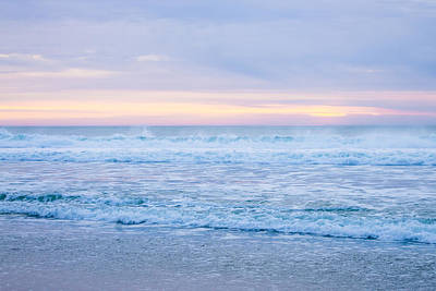 Pacific Beach Photograph - Last Light On The Pacific Ocean by Priya Ghose