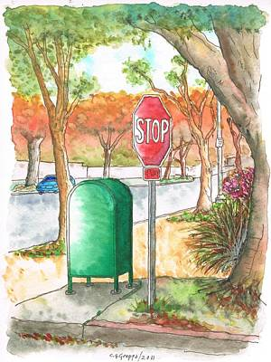 Beverly Hills Painting - Last Mailbox In Beverly Hills - California by Carlos G Groppa