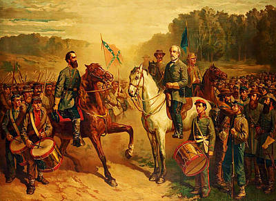 Fay Painting - Last Meeting Of Lee And Jackson by J G Fay