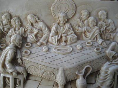 Ceramic Relief Relief - Last Supper Ceramic Relief by Dotti Hannum
