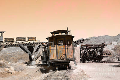 Old Caboose Digital Art - Last Train Home by Beverly Guilliams
