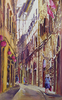 Italian Landscapes Painting - Late Afternoon In Florence by Jenny Armitage