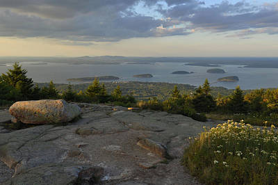 Down East Maine Photograph - Late Summer Evening by Stephen  Vecchiotti