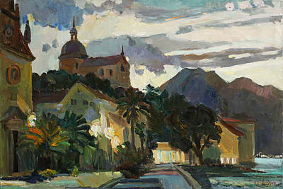 Montenegro Painting - Late Evening In The Prcanj by Juliya Zhukova