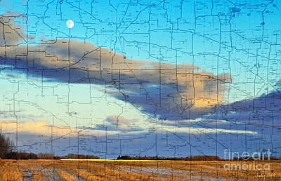 Judy Wood Digital Art - Late Fall Fields by Judy Wood