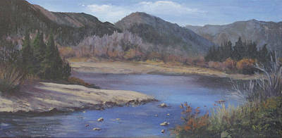 Late Fall On The Poudre Print by Bev Finger