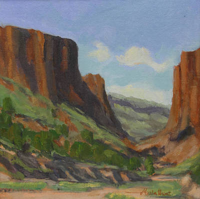 Late Morning In Diablo Canyon Print by Maria Hunt