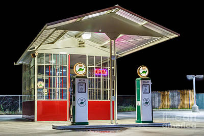 All-metal Photograph - Late Night Gas Station by James Eddy