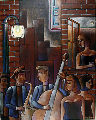Late Night Jazz In New Orleans Original by Gerry High