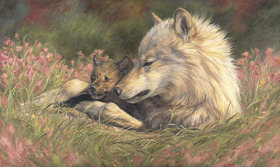 Gray Wolf Painting - Late Spring by Lucie Bilodeau