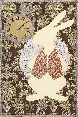 March Hare Mixed Media - Late? With The White Rabbit by Savannah Bertozzi