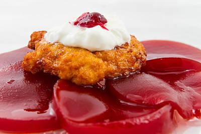 Hanukah Photograph - Latke On Jellied Cranberry Sauce by Mason Resnick