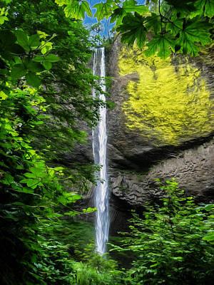 Grand Memories Painting - Latourelle Falls by John Haldane