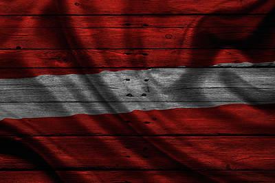 Flag Photograph - Latvia by Joe Hamilton