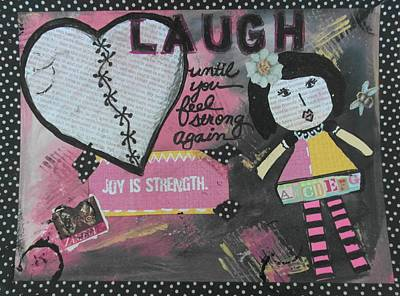 Etc Mixed Media - Laugh by Debbie Hornsby