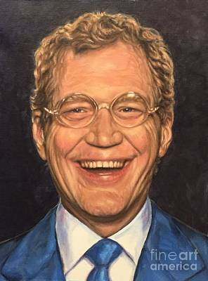 Letterman Painting - Laugh With David Letterman by Amanda Li