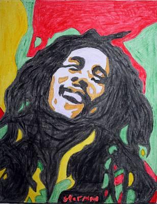 Rasta Painting - Happy Bob Marley  by Stormm Bradshaw