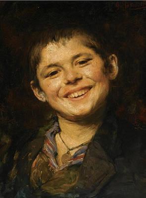 Georgio Painting - Laughing Boy by Georgios Jakovidis