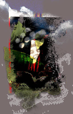 Gaia Digital Art - Laughing Gaia by Aniko Hencz