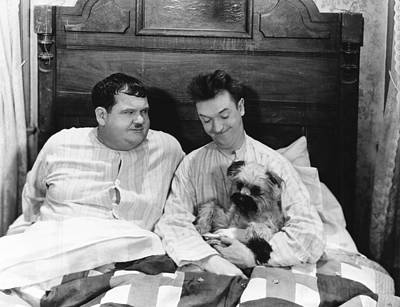 Ev-in Photograph - Laughing Gravy, From Left Oliver Hardy by Everett