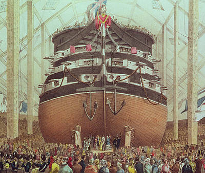Launch Of Hms Royal Albert Print by English School