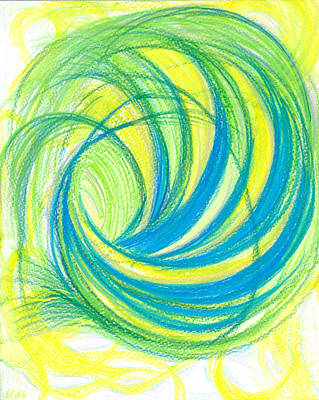 Feelings Drawing - Launch Yourself On Every Wave by Kelly K H B