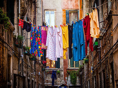 Positivity Photograph - Laundry Line by Dobromir Dobrinov