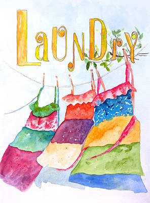 Laundry Painting - Laundry by Lynne Furrer