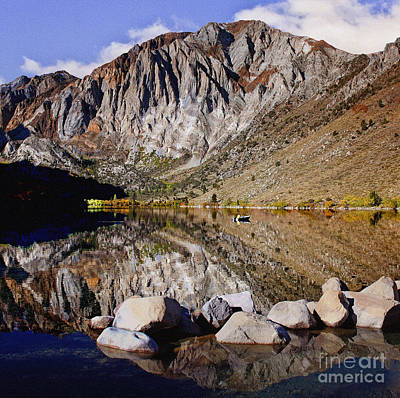 Laural Mountain Convict Lake California Print by Bob and Nadine Johnston