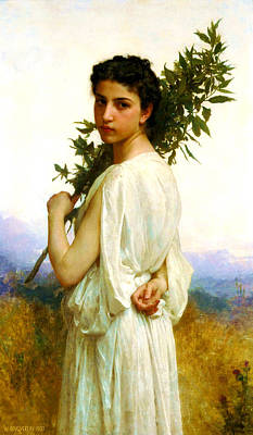 Laurel Branch Print by William-Adolphe Bouguereau