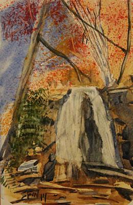 Great Smokey Mountains Painting - Laurel Falls by Spencer  Joyner