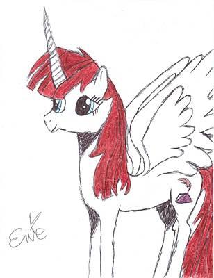 Pegasus Drawing - Lauren Faust by Rhapsody Forever