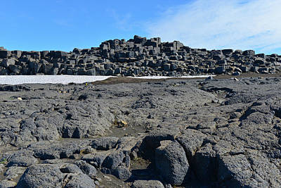 Dettifoss Photograph - Lava And Rock At Dettifoss by Jeffrey Hamilton