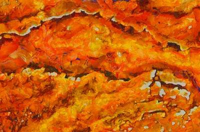 Yellowstone Mixed Media - Lava Flow by Dan Sproul