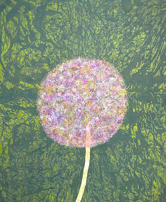 Portrait Painting - Lavender Allium by Sumit Mehndiratta
