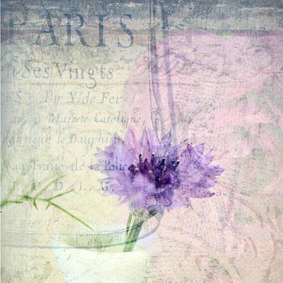 Purple Flowers Digital Art - Lavender Chive by Bonnie Bruno