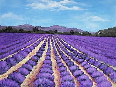 Violet Painting - Lavender Field In Provence by Anastasiya Malakhova